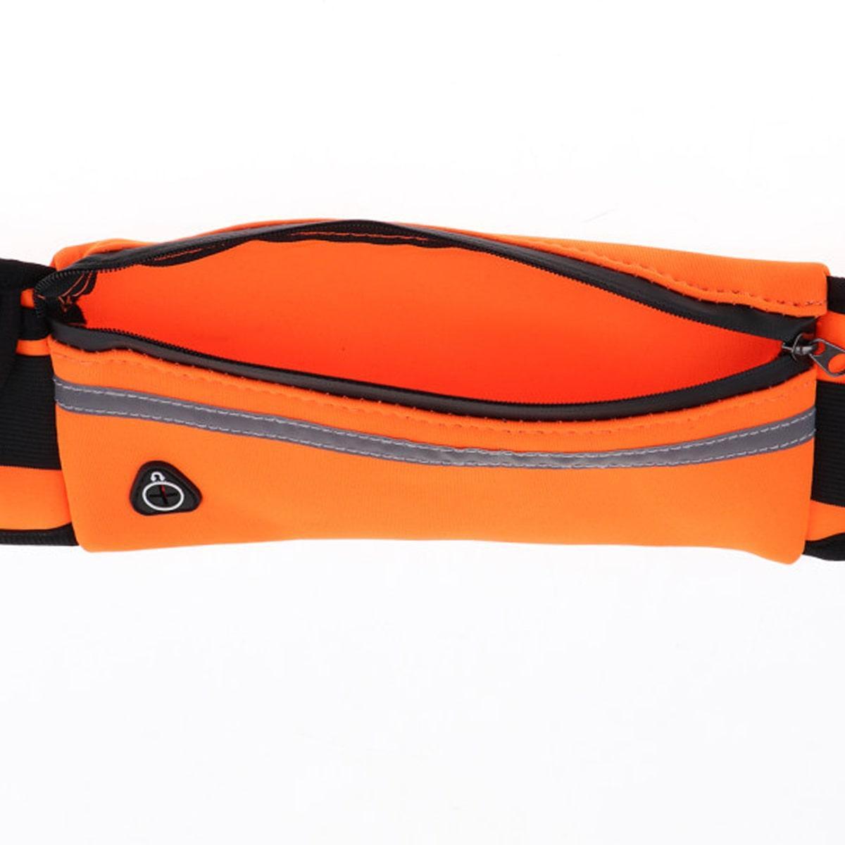 Сумка спортивная поясная для телефона оранжевая - фото 9