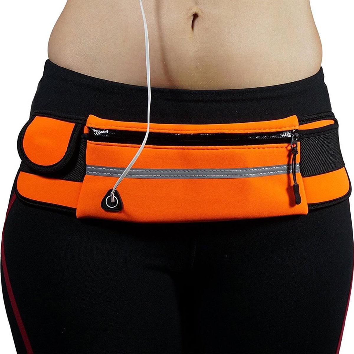 Сумка спортивная поясная для телефона оранжевая - фото 10