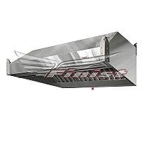 Зонт вытяжной нержавеющий ЗВН-03 (1700х900х400мм)