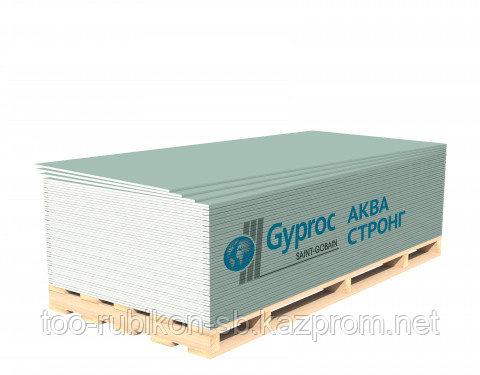 Гипсокартон ГКЛ GYPROC Аква Стронг 2500х1200х15мм
