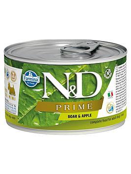 Консервы Farmina N&D Prime для собак Кабан с яблоком