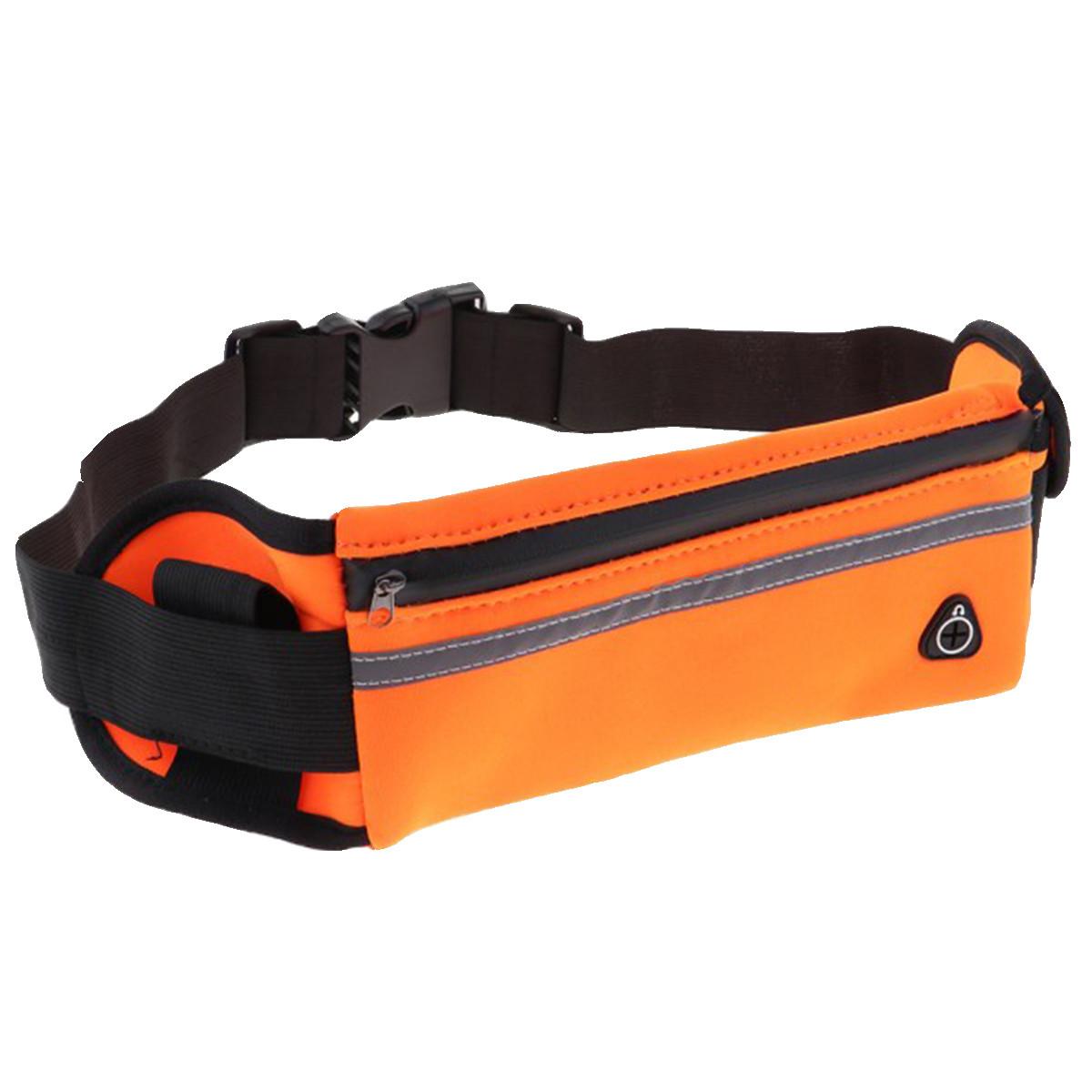 Сумка спортивная поясная для телефона оранжевая - фото 3