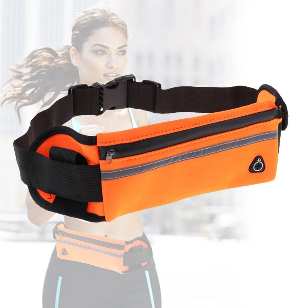 Сумка спортивная поясная для телефона оранжевая - фото 1