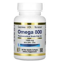 БАД Омега 800, рыбий жир 80% ЭПК и ДГК, 1000мг (30 рыбно-желатиновых капсул)