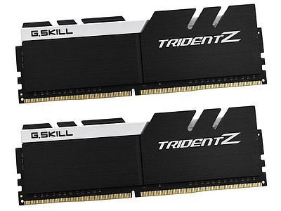 Комплект модулей памяти G.Skill Trident Z, F4-3200C15D-16GTZKW, DDR4, 16 GB, black/white
