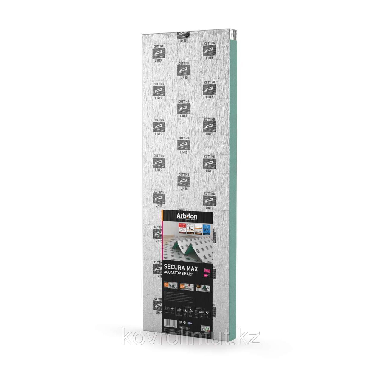 Подложка Arbiton Secura Max Aquastop Smart 5мм 1,18х4,7 м (5,5м2/уп)