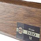 Плинтус Arbiton Indo 12, Дуб Темный, 2500х70х26 мм, фото 2