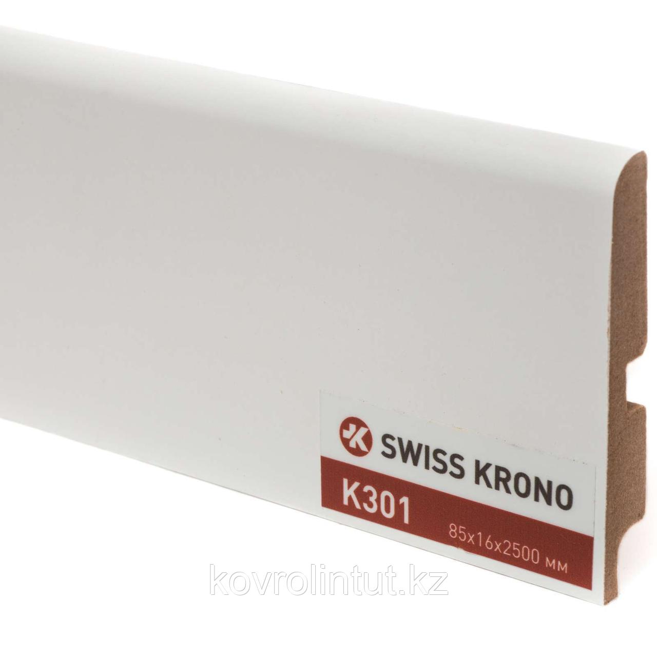 Плинтус Kronopol P85 K301, White, 2500х85х16мм