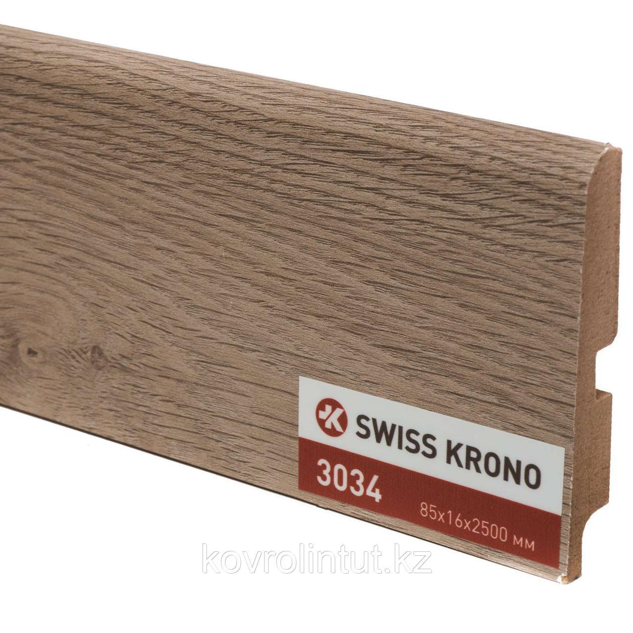 Плинтус Kronopol P85 3034 Ferrara Oak 2500х85х16мм