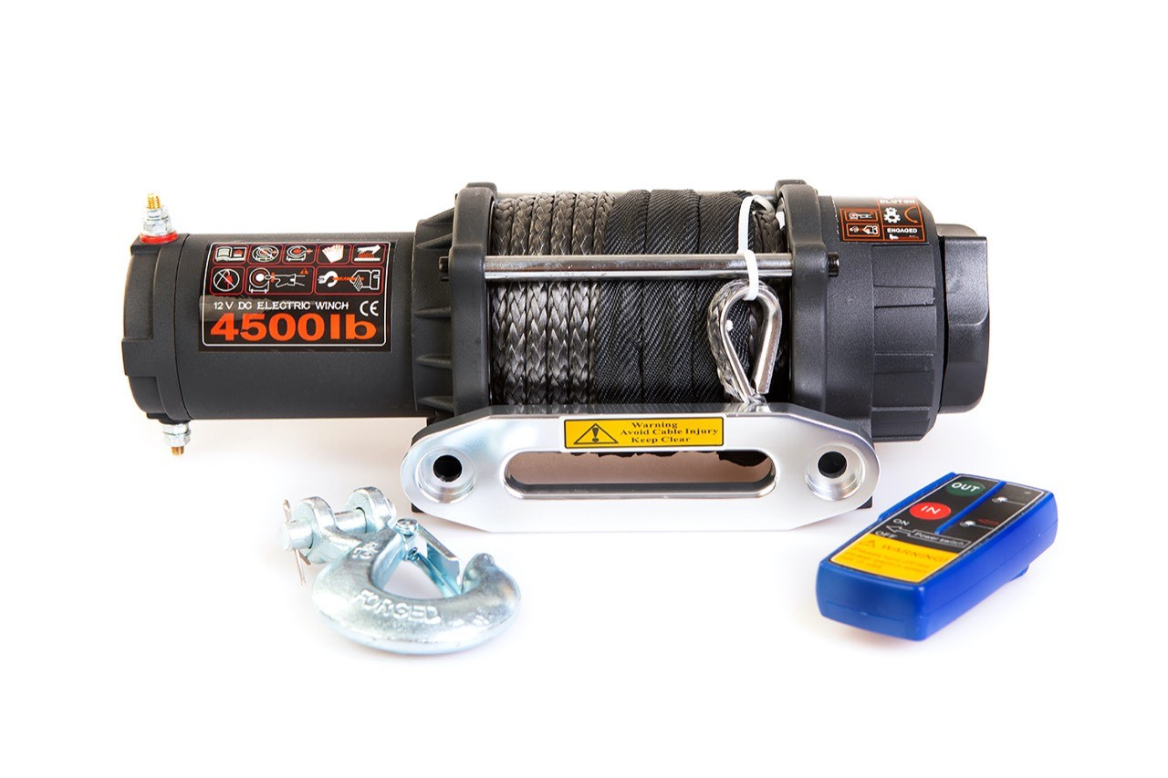 Лебёдка с кевларовым тросом для мото техники 2043 кг / 4500 lbs - LUKE WINCHES