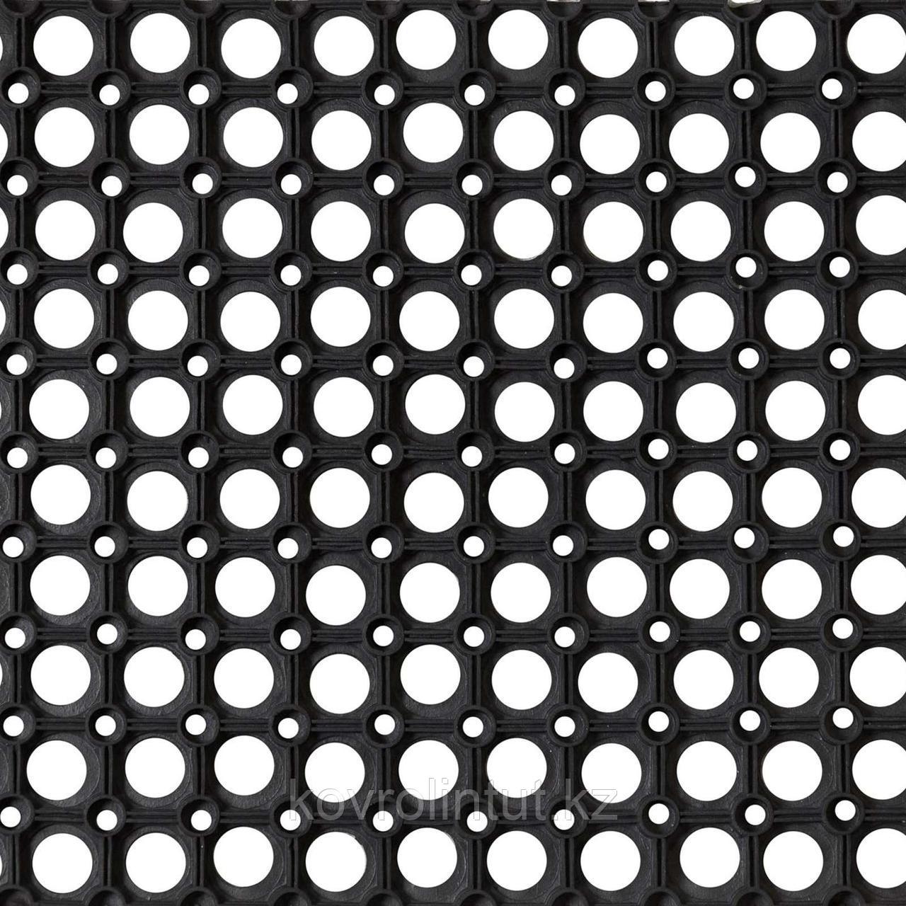 Коврик резиновый Ринго-мат 80х120 см, 16 мм, черный