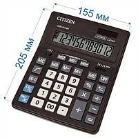 """Калькулятор настольный """"Citizen Business Line"""", CDB1201-BK, 12-разрядный, 205x155x35мм, чёрный"""