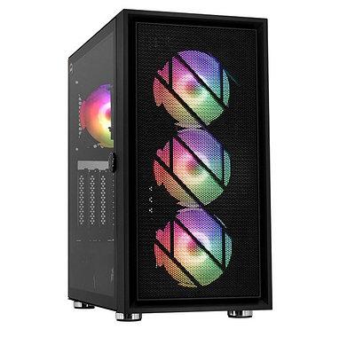 Настольный компьютер Core i5-10400F-2.9GHz/B460/RAM 16GB/SSD 240GB (M.2)/HDD 1000GB/RX580-8GB/no DVD/650W/