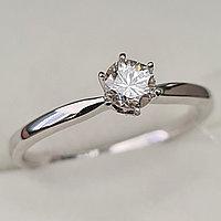 Золотое кольцо с бриллиантами 0.36Сt SI1/K, EX- Cut
