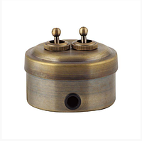 Ретро выключатель (металл,бронза)