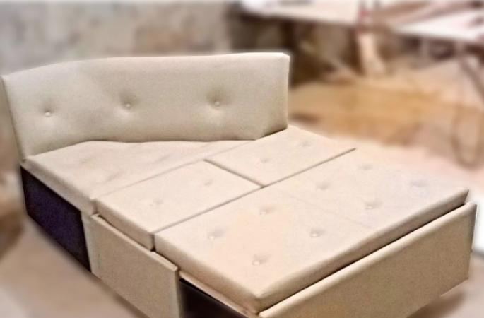 Угловой диван на заказ для балкона - фото 3