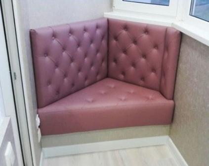 Угловой диван на заказ для балкона - фото 1