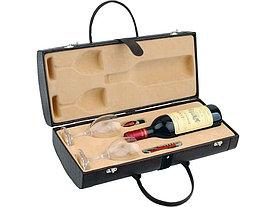Тубус для вина с винными аксессуарами Рислинг, коричневый (Р)