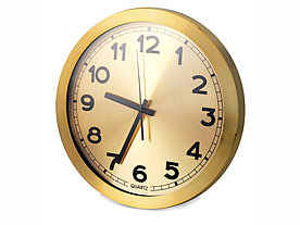 Часы настенные Кларк, золотистый