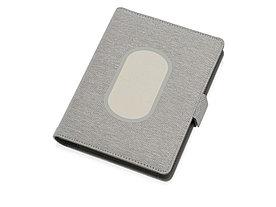 Органайзер с беспроводной зарядкой 5000 mAh Powernote, светло-серый