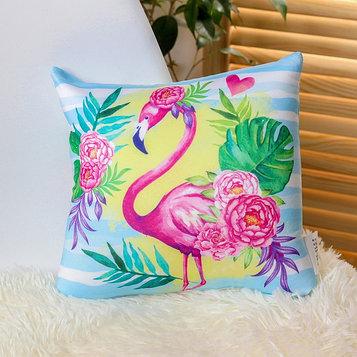 Подушка-антистресс «Фламинго» 23х23 см