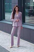Женский осенний фиолетовый деловой деловой костюм Vladini SU1114 лаванда 42р.