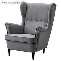 Кресло с подголовником СТРАНДМОН, темно-серый