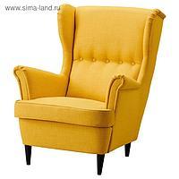 Кресло с подголовником СТРАНДМОН, желтый