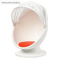 Вращающееся кресло ЛЁМСК, белый, красный