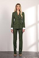 Женский осенний зеленый деловой деловой костюм Vladini SU1119 зеленый 42р.