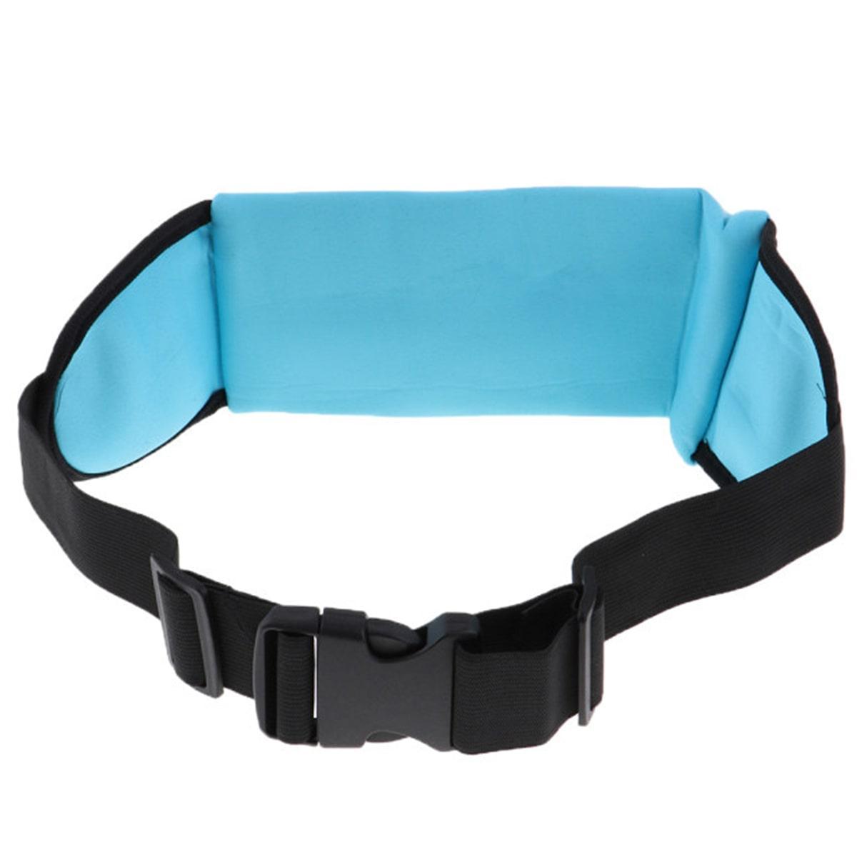 Сумка спортивная поясная для телефона голубая - фото 5