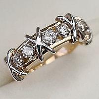 Золотое кольцо с бриллиантами 0,50Сt SI1-SI2/K EX-Cut, фото 1