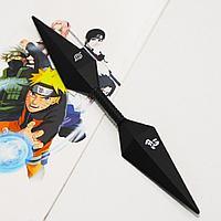 Игрушечное оружие Наруто Кунай двухсторонний цвет черный