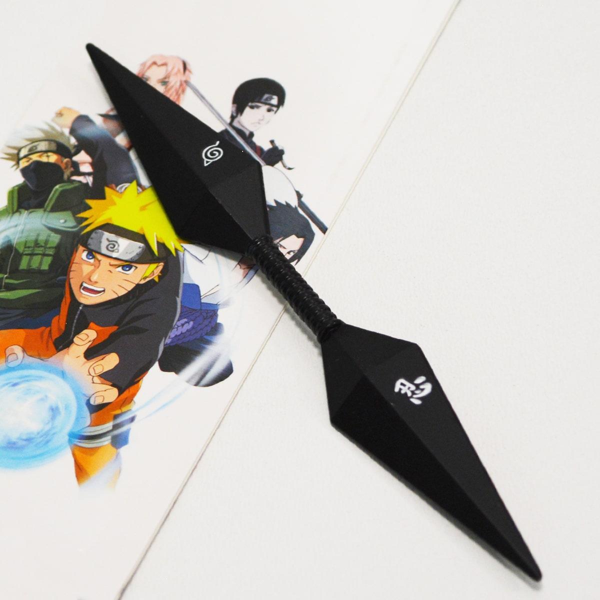 Игрушечное оружие Наруто Кунай двухсторонний цвет черный - фото 1