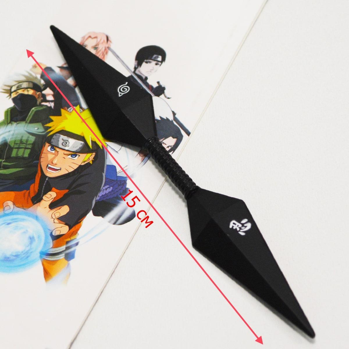Игрушечное оружие Наруто Кунай двухсторонний цвет черный - фото 2
