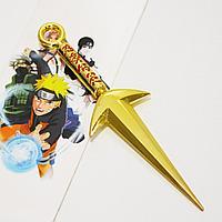 Игрушечное оружие Наруто кунай летящего бога грома цвет золотистый