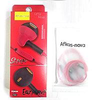 Наушники с микрофоном Afkas-nova AF-58 красный