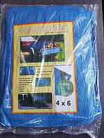 Тент тарпаулин туристический 4х6м с люверсами
