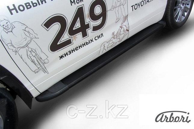 Комплект алюминиевых порогов Arbori Optima Black 1800 для TOYOTA Highlande 2014-2016, фото 2