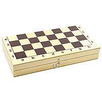 """Игра настольная """"Шахматы и шашки"""" пластмасс.,деревянное поле"""