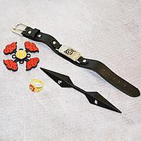 Игровой набор Наруто Кунай двухсторонний кольцо браслет и спиннер
