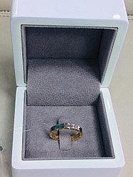 Кольцо / жёлтое, белое золото - 18,5 размер