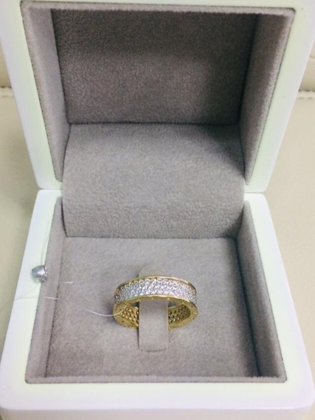 Кольцо /жёлтое золото - 17,5 - 18 размер