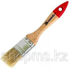 """Кисть плоская """"Евро"""" 1,5"""", натуральная щетина, деревянная ручка// MATRIX"""