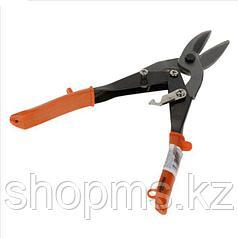 Ножницы по металлу, 250 мм, пряморежущие,  обливные ручки// SPARTA