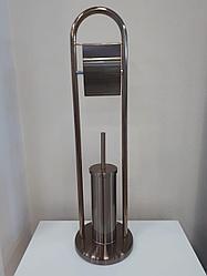 Ёршик напольный с держателем для т/бумаги Potato P324-2 бронза