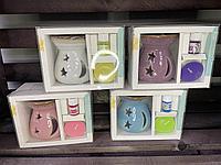 Подарочный набор Rose Cottage Aroma подсвечник, свечка и масло