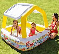 Надувной бассейн Intex 57470, 157х157см, с навесом Детский