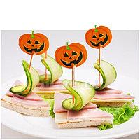 Деревянные декоративные зубочистки для еды на Хэллоуин (шпажки)