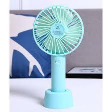Портативный ручной вентилятор с сменным аккумулятором и подставкой, фото 2